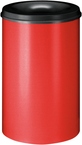 Self-extinguishing waste-paper basket, red/black, 110 l