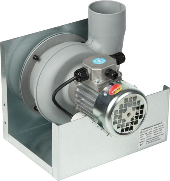 Radialventilator, geräuscharm, mit Thermoschalter, 45 db(A)