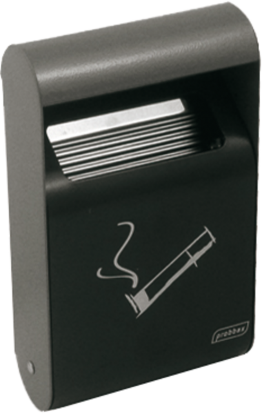 Wall-mounted ashtray black, 1.5 l