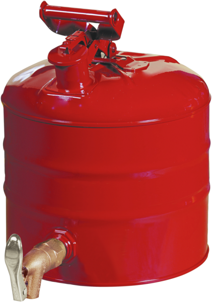 Sheet steel can with tap outlet at bottom,capacity 9.5l