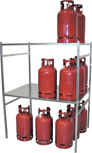 Gas cylinder rack galvanised
