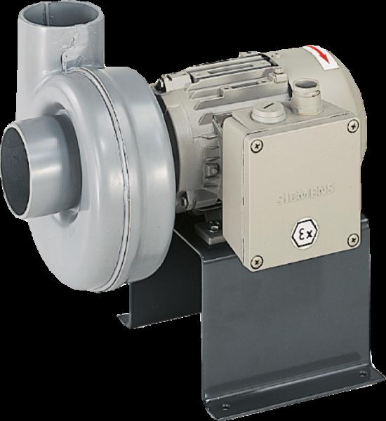 Radialventilator, geräuscharm, ex-geschützt, 54 db(A), IP 55