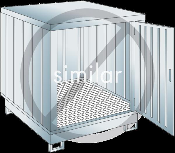 Sicherheits-Lagercontainer Auffangvolumen: 254 l
