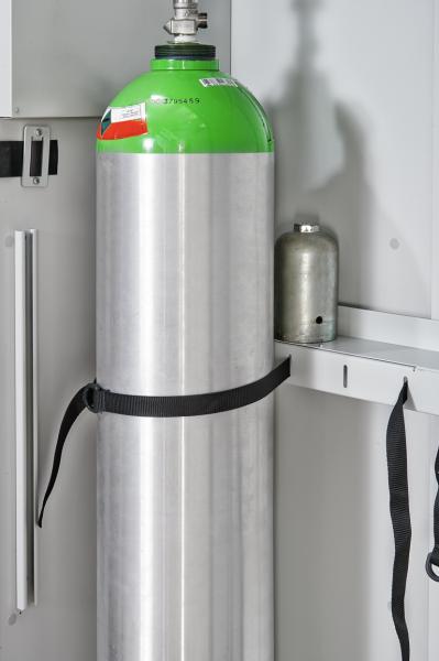 Ablage für Verschlusskappe zum Anschluss an Flaschenhalter