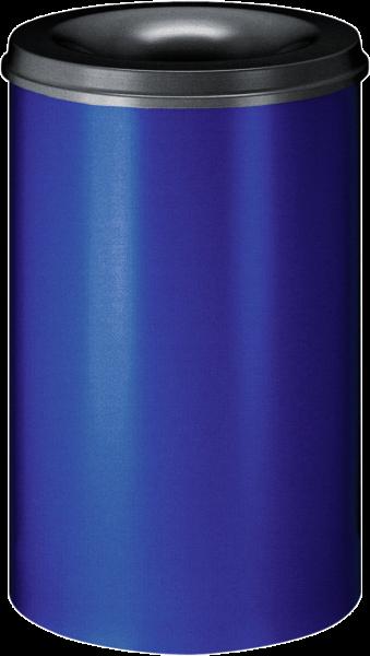 Self-extinguishing waste-paper basket, blue/black, 110 l