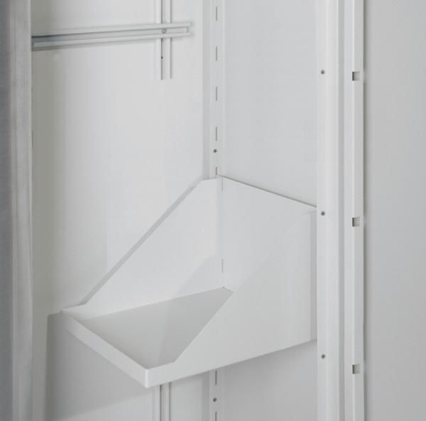 Side shelf for gas cylinder depot