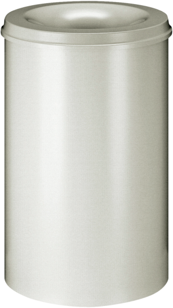 Self-extinguishing waste-paper basket, light grey, 110 l