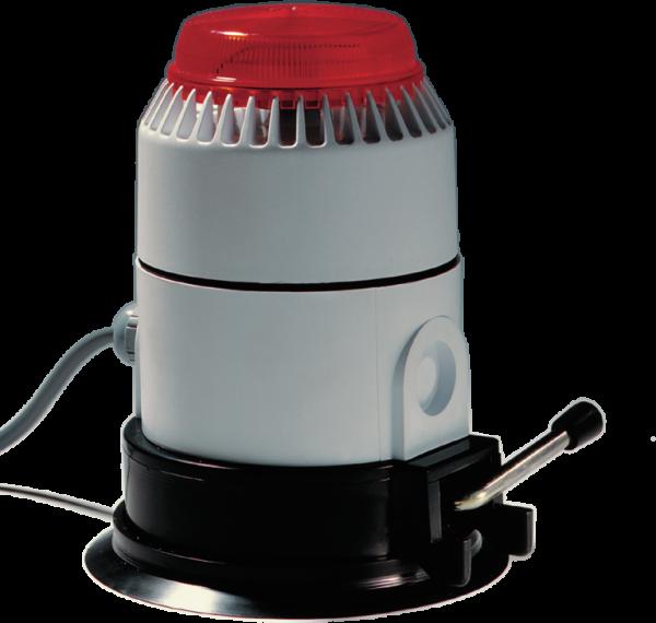 Optisch/akustischer Alarmgeber inkl. 4 m Anschlusskabel