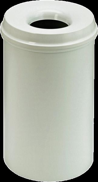 Self-extinguishing waste-paper basket, light grey, 20 l