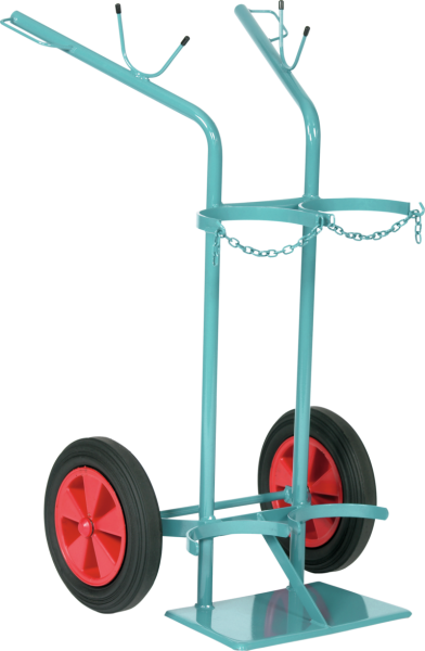 Gas cylinder trolley for 2 x 40/50 litre cylinders