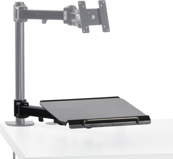 Keyboard arm set, extendable incl. mouse pad,