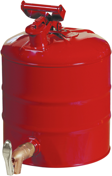 Sheet steel can with tap outlet at bottom,capacity 19 l