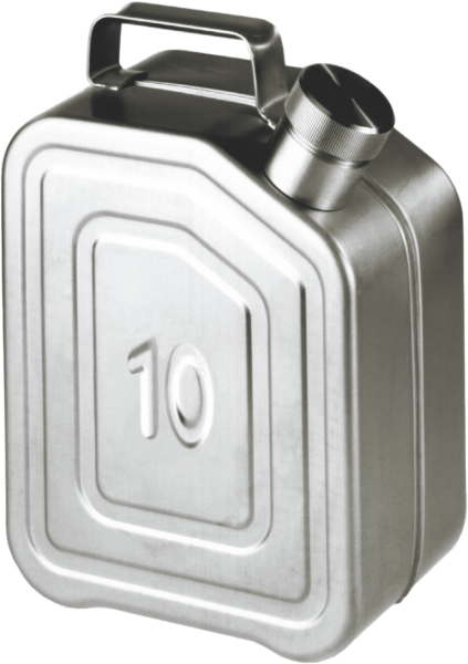 Transport canisters stainless steel, capacity:10 l