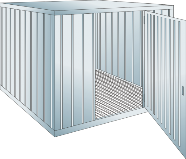 Safety storage container collection volume 1000 l