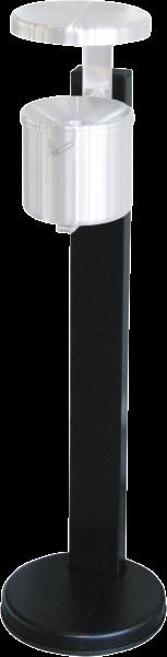 Sicherheits-Wandaschenbecher, neusilber, 2,4 l