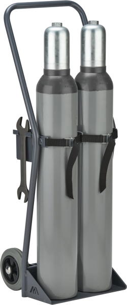 Gas cylinder trolley, load: 100 kg, for 2 x 10 l cylinders