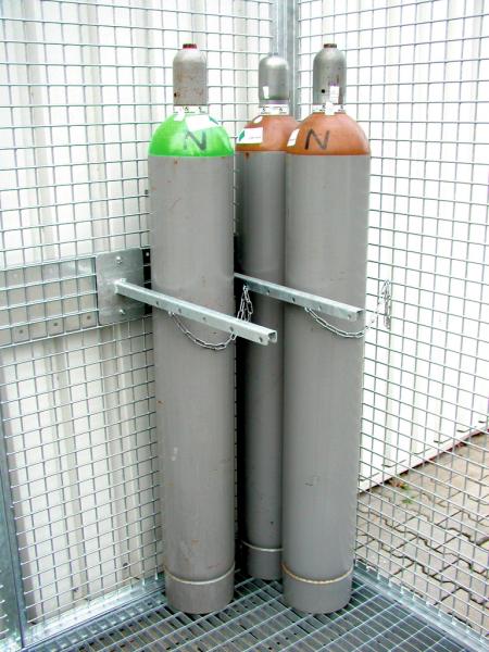 Haltevorrichtung mit Kette für Gasflaschen d = 220 mm
