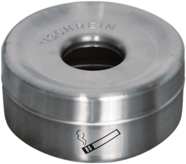 Safety table ashtray stainless steel, cap. 1.0 l