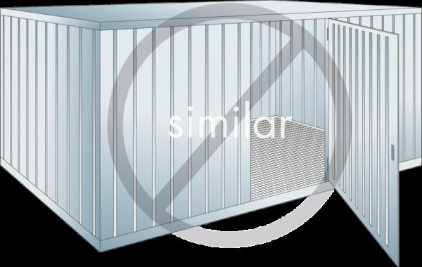 Sicherheits-Lagercontainer Auffangvolumen: 1000 l