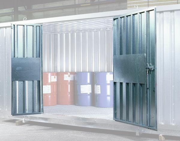Stahltür Standard, 2-flügelig, für Sicherheits-Lagercontainer