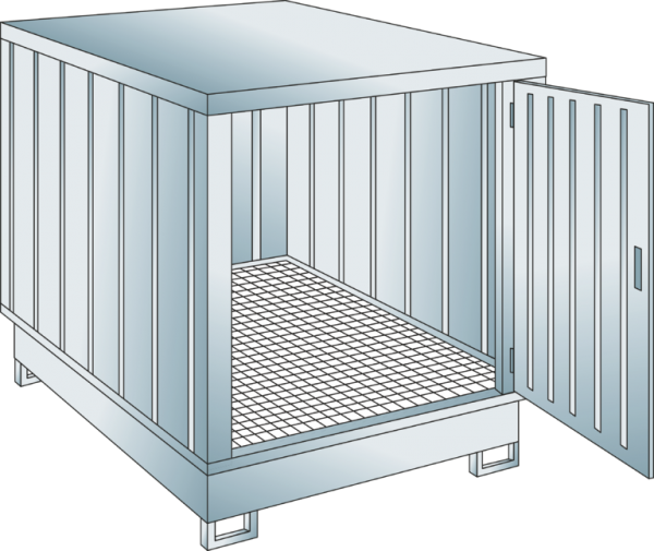 Safety storage container collection volume 243 l