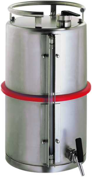 Stainless steel dispensing can with level indicator,cap. 25 l
