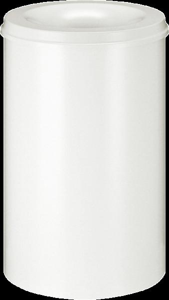 Papierkorb, selbstlöschend, weiß, Inhalt: 110 l