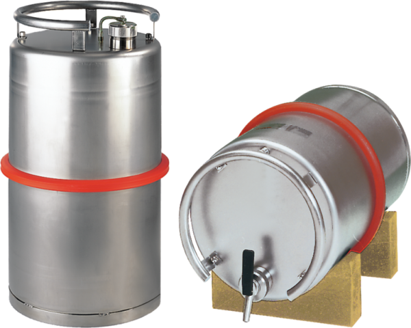 Stainless steel transport can capacity 25 l