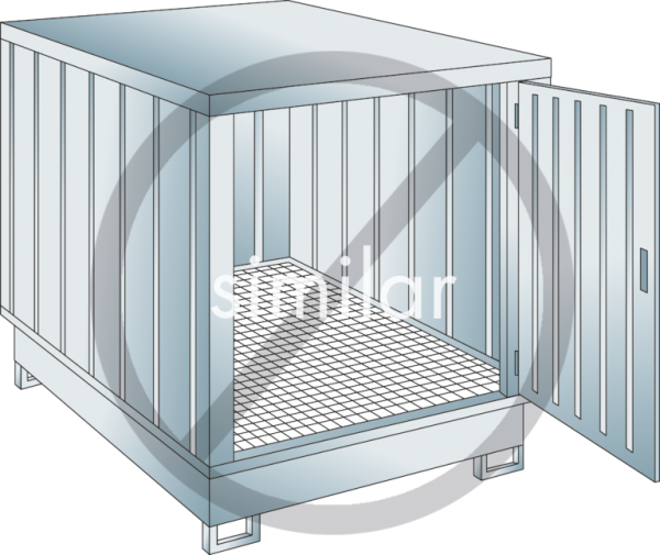 Safety storage container collection volume 243l