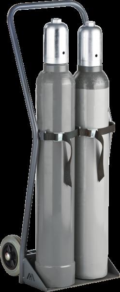 Gasflaschen-Wagen, Tragkraft 100kg f. 2x10l-Druckgasflasche