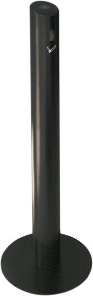 Aluminium collection container for cigarette butts, black