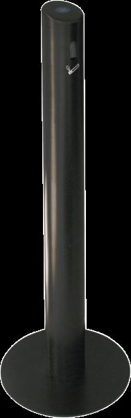 Sammelbehälter für Zigaretten- kippen aus Aluminium, schwarz