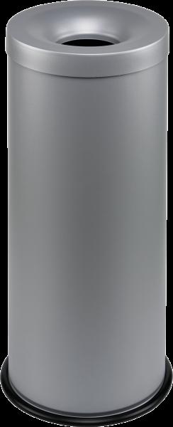 Papierkorb, selbstlöschend grau, Inhalt: 30 l