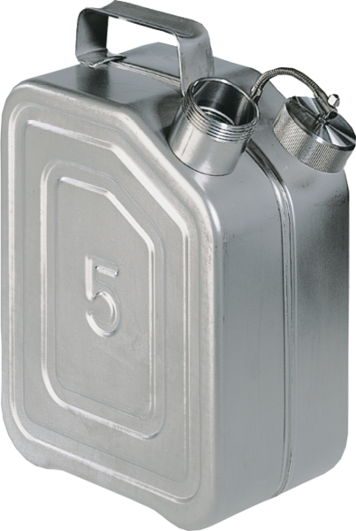 Transport canisters stainless steel, capacity: 5 l