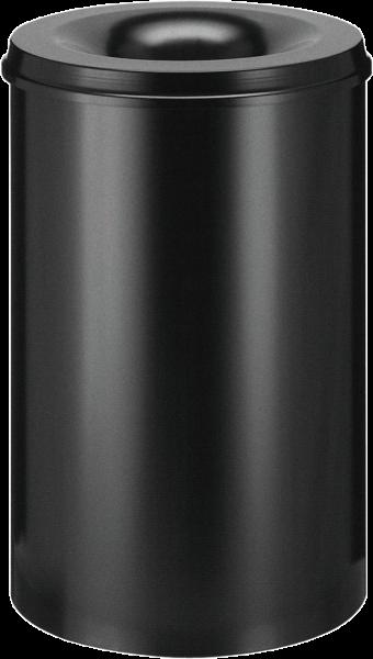 Papierkorb, selbstlöschend, schwarz, Inhalt: 110 l