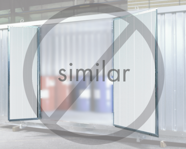 2-leaf steel door, insulated for safety storage containers