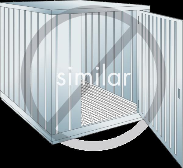 Sicherheits-Lagercontainer Auffangvolumen: 630 l
