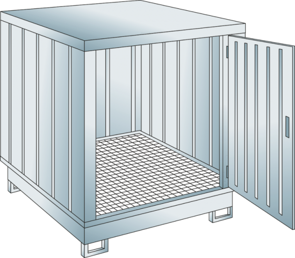 Safety storage container collection volume 254 l