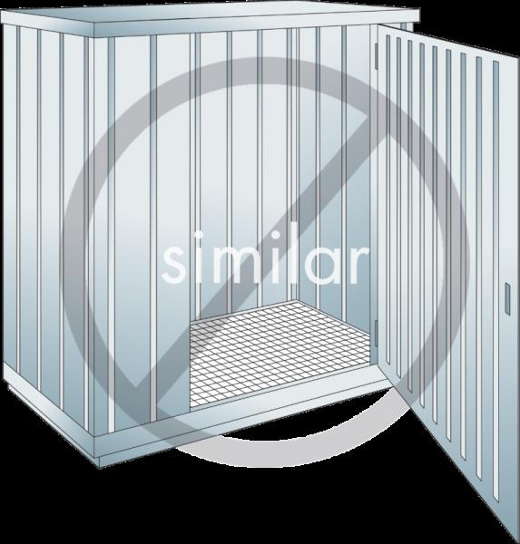 Sicherheits-Lagercontainer Auffangvolumen: 300 l