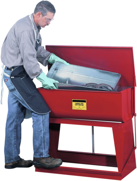Pedal operated dipping tank, sheet steel, 97 litres