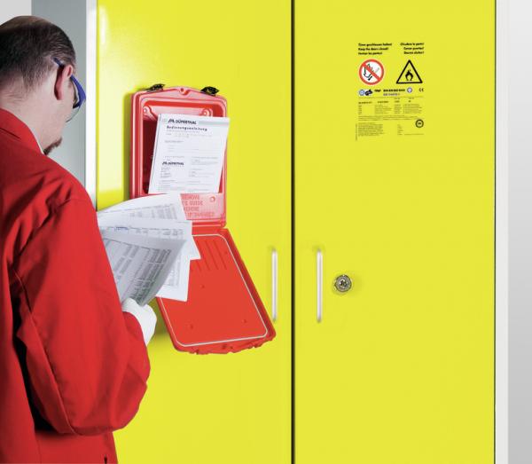 Red-Box für Sicherheits- und Servicedokumente
