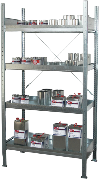 Hazardous substance shelving basic unit