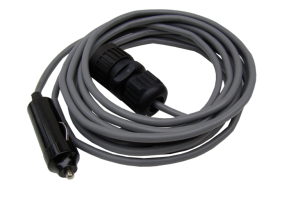 Power cable 4 m for tanker´s cigarette lighter 24V