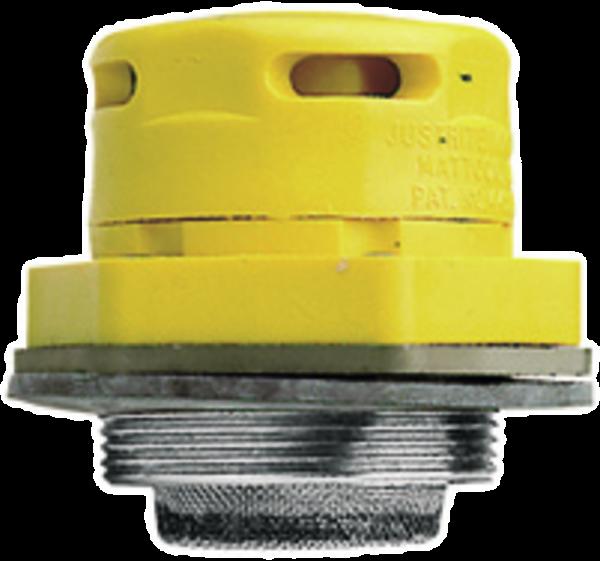 Vakuum-/Druckausgleichventil aus Kunststoff/Edelstahl