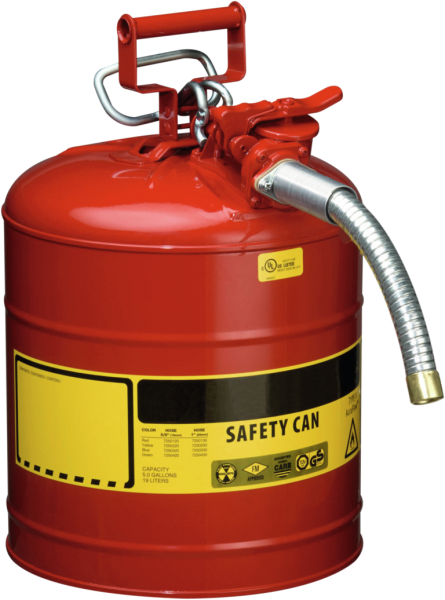 Steel dispensing can with hose dia=25 mm, cap.19 l