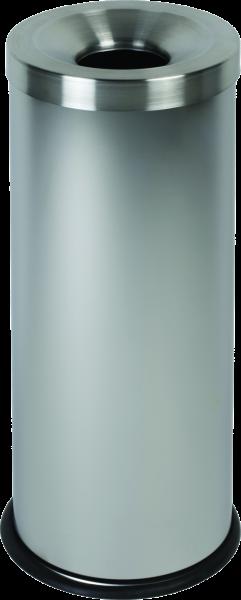 Papierkorb, selbstlöschend Edelstahl matt, Inhalt: 30 l