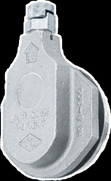 Vaccum/pressure compensation in stainless steel, 2''-thread