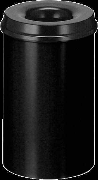 Papierkorb, selbstlöschend, schwarz, Inhalt: 20 l