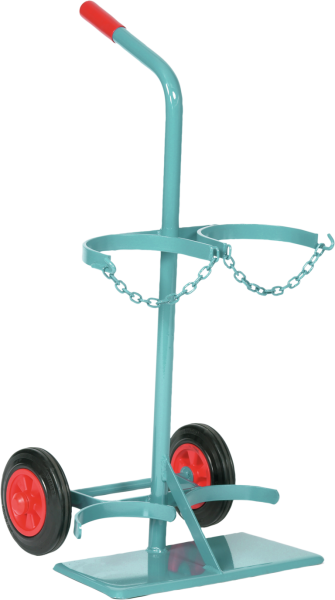 Gas cylinder trolley for 2 x 20 litre gas cylinders