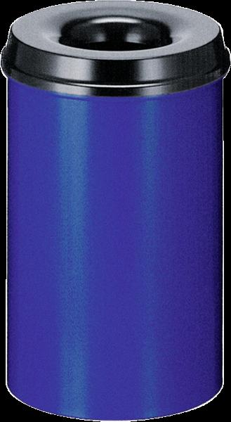Self-extinguishing waste-paper basket, blue/black, 20 l